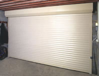 Inside view of Hormann insulated automatic roller garage door