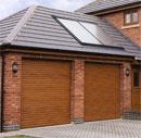 Aluroll Classic insulated golden oak roller doors