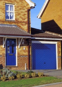 Picture of Cardale Chevron steel up & over garage door in blue