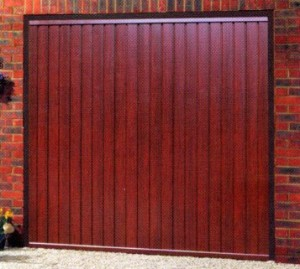 Picture of Cardale Gemini steel garage door in Rosewood laminate
