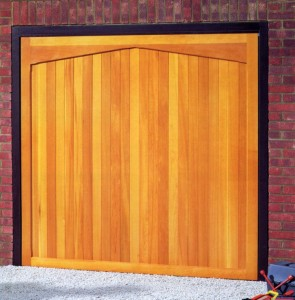 Picture of Cardale Gatcombe cedarwood garage door