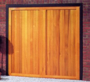 Picture of Cardale Berkeley Vertical cedarwood garage door