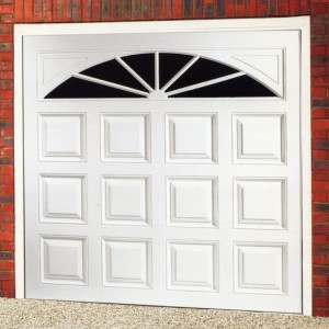 Gloss white Cardale Elite President ABS garage door