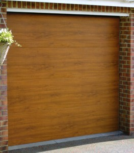 Golden Oak Gliderol Sectional garage door