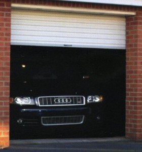 Gliderol roller garage door in white