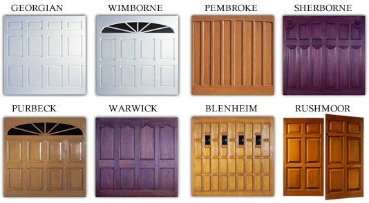 Some of the popular GRP Wessex Garage Door Styles