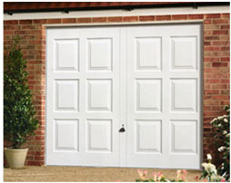 Picture of Garador White Steel Georgian design up & over garage door