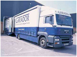 Garador delivery lorry