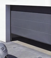 Hormann L-Rib sectional garage door in Anthracite Grey