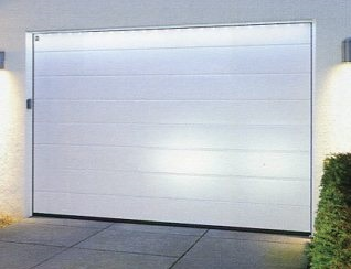 Hormann ribbed sectional door shown from the front