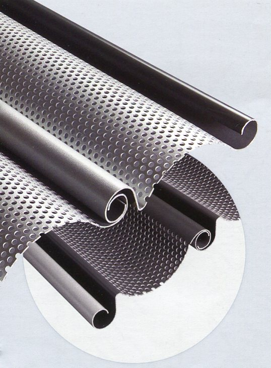 Picture showing Hormann perforated lath profile
