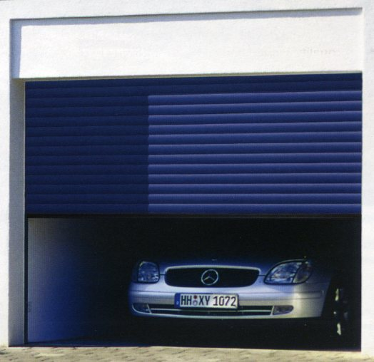 Picture of Hormann Rollmatic roll up garage door in Blue