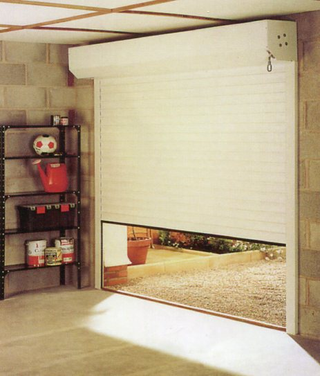 Picture of inside view of Aluroll automatic insulated roll up roller garage door