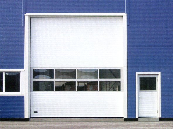 Ryterna Garage Doors glazed industrial sectional door in white