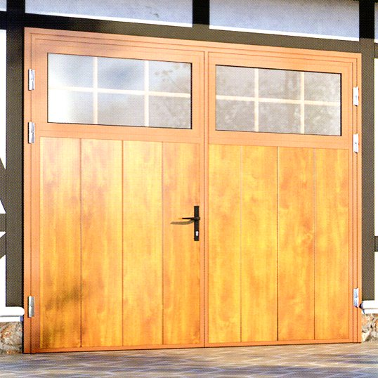 Ryterna Mid-Rib Side-Hinged garage doors