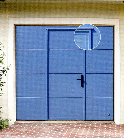 Picture of Ryterna Flush sectional garage door with wicket door