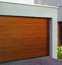 Picture of Hormann Rollmatic insulated roller garage door in Golden Oak