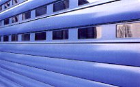 Picture showing vision slats in an Aluroll insulated roller shutter garage door