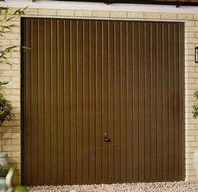 Garador Carlton door in terra brown