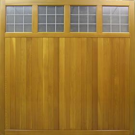 Picture of Wooden Garage Door. The Cedar Ashbourne Door