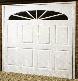 Wessex Wimborne Gloss White fibreglass garage doors