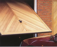 Hormann Chevron timber up & over garage door