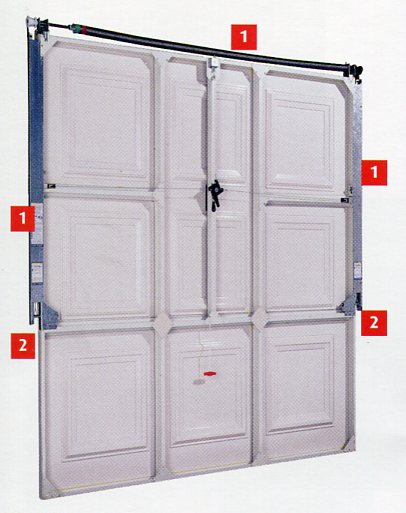 Picture showing rear of Cardale canopy garage door