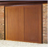 Wessex Frensham wood effect fibreglass up & over garage door