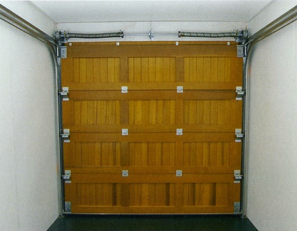 Wood Sectional Garage Doors : Wood garage doors side hinged sectional up over