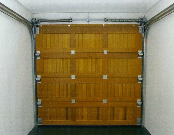 Wood garage doors side hinged sectional up over for Rear garage door