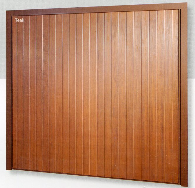 Picture of Wessex Valiant York garage door in Teak