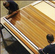 Picture showing assembly of garage door