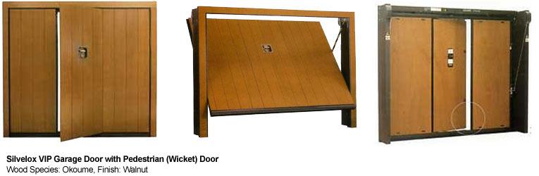 silvelox VIP garage door with pedestrian door