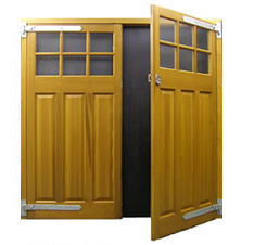 Picture of Cedar Door Middleton Side-hinged garage doors