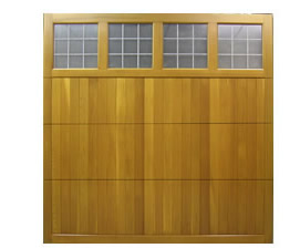 Picture of Cedar Door Derwent sectional timber garage door