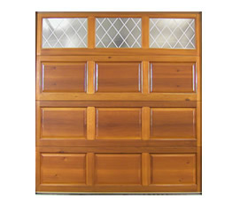 Picture of Cedar Door York sectional timber garage door
