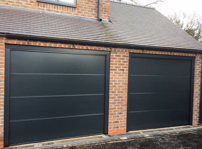 Hormann insulated sectional doors in RAL colour