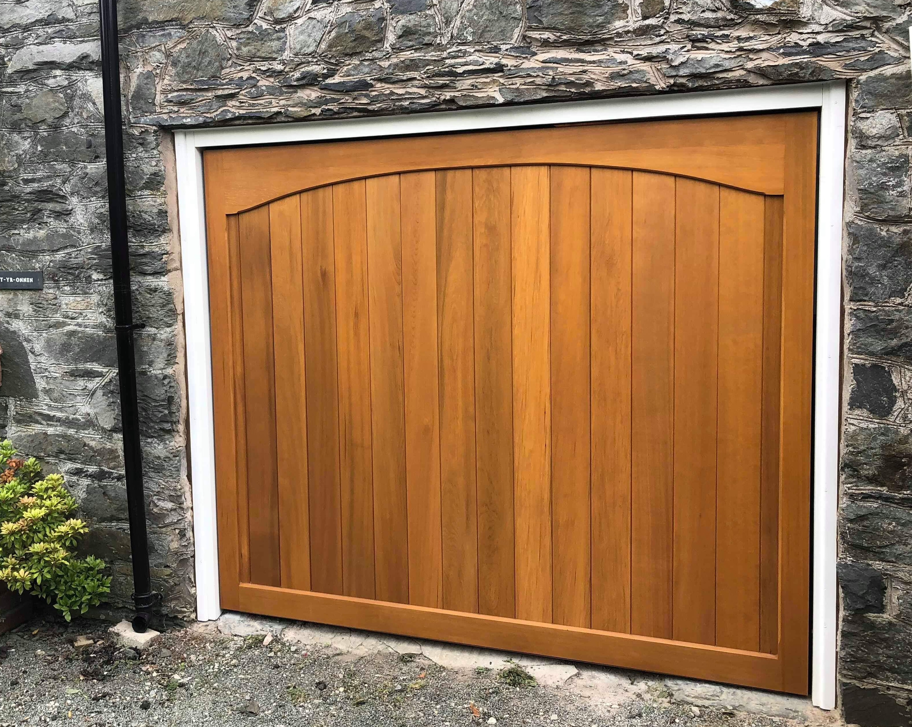 Cedar Door Haddon Traditional Boarded up and over door installed by us