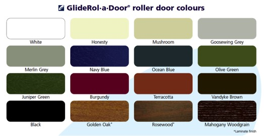 Gliderol roller door colours.