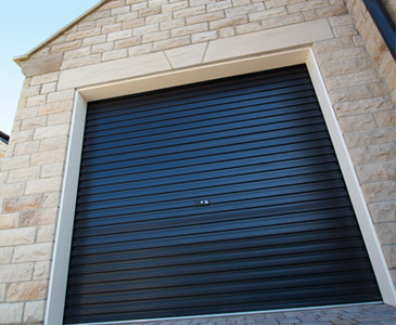 Gliderol roller door in Navy Blue colour.