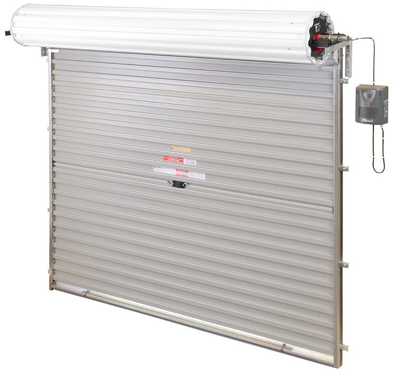 Inside view of Gliderol roller garage door with Glidermatic automation.