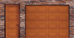 Alutech Georgian matching side door in Golden Oak