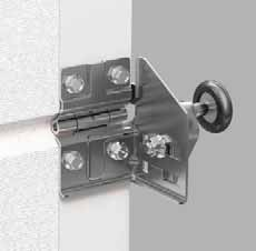 Alutech door hinge assembly