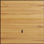 Garador Horizontal Solid cedar door