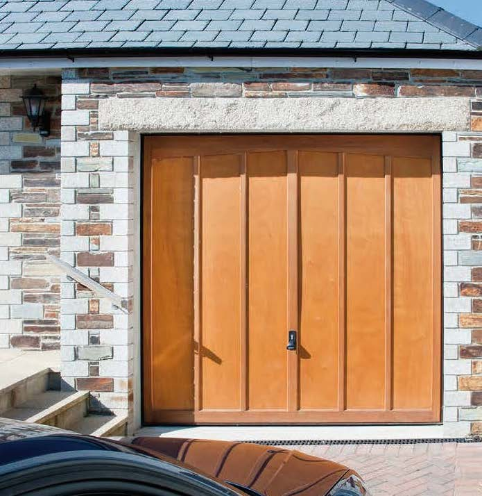 Garador timber panel Tudor garage door