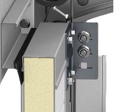 Adjustable rolling brackets allow achieving close proximity of the door leaf to seals.