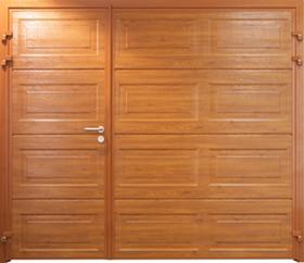Carteck Georgian insulated side hinged door in golden oak