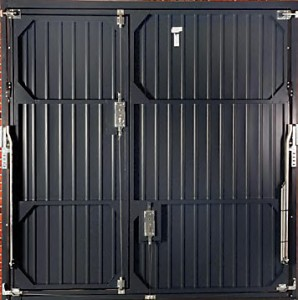 Fort smartpass garage door. Secure locks on the back of the door.