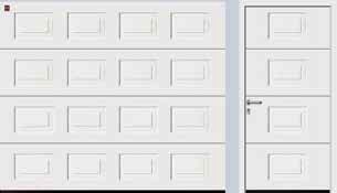 Panelled LPU with matching side door in Traffic white RAL 9016