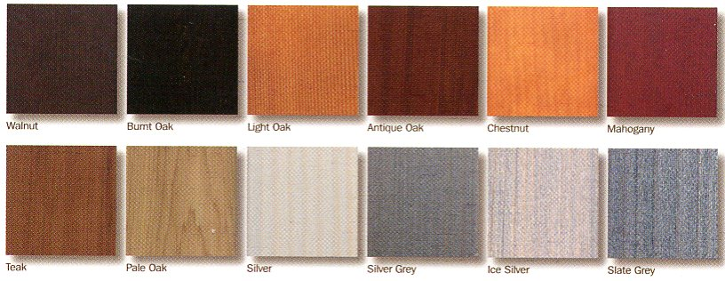 Colours and finishes available on Woodrite doors